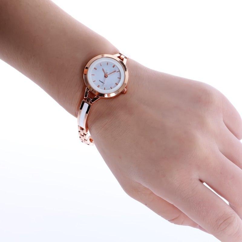Women Girls Relojes Luxury Analog Display Quartz Relogio Guld Silver - Damklockor - Foto 6