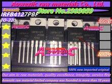 2017 100 + חדש מיובא מקורי Aoweziic IRFB4127PBF IRFB4127 TO 220 אפקט שדה צינור MOS ערוץ N 200 V 76A
