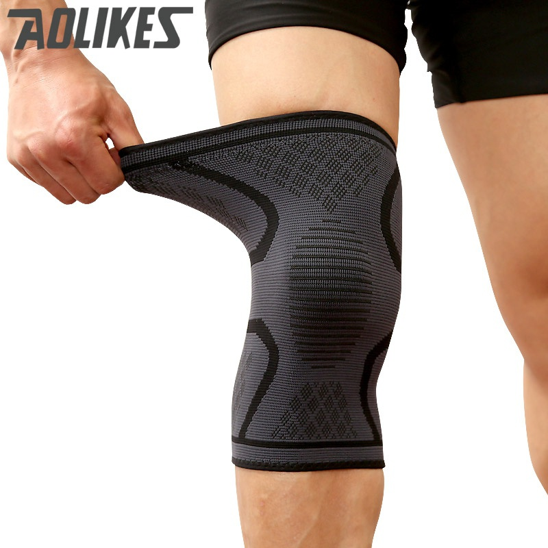 Men Fitness Elbow Knee Pads Running Cycling Knee Support Braces Elastic Sport Compression Knee Pad Sleeve for Basketball