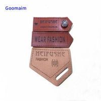 leather label custom in Garment Labels sewing clothes handmade embossed leather labels tag patches for bag personalized name tag