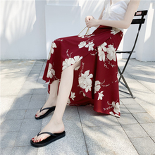 Spring and Summer new style Beach skirt holiday skirt One-piece wrap skirt chiffon floral skirt new fashion