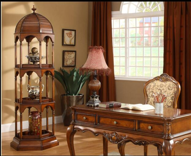 American style creative storage display rack of European solid wood shelves in Storage Holders Racks from Home Garden