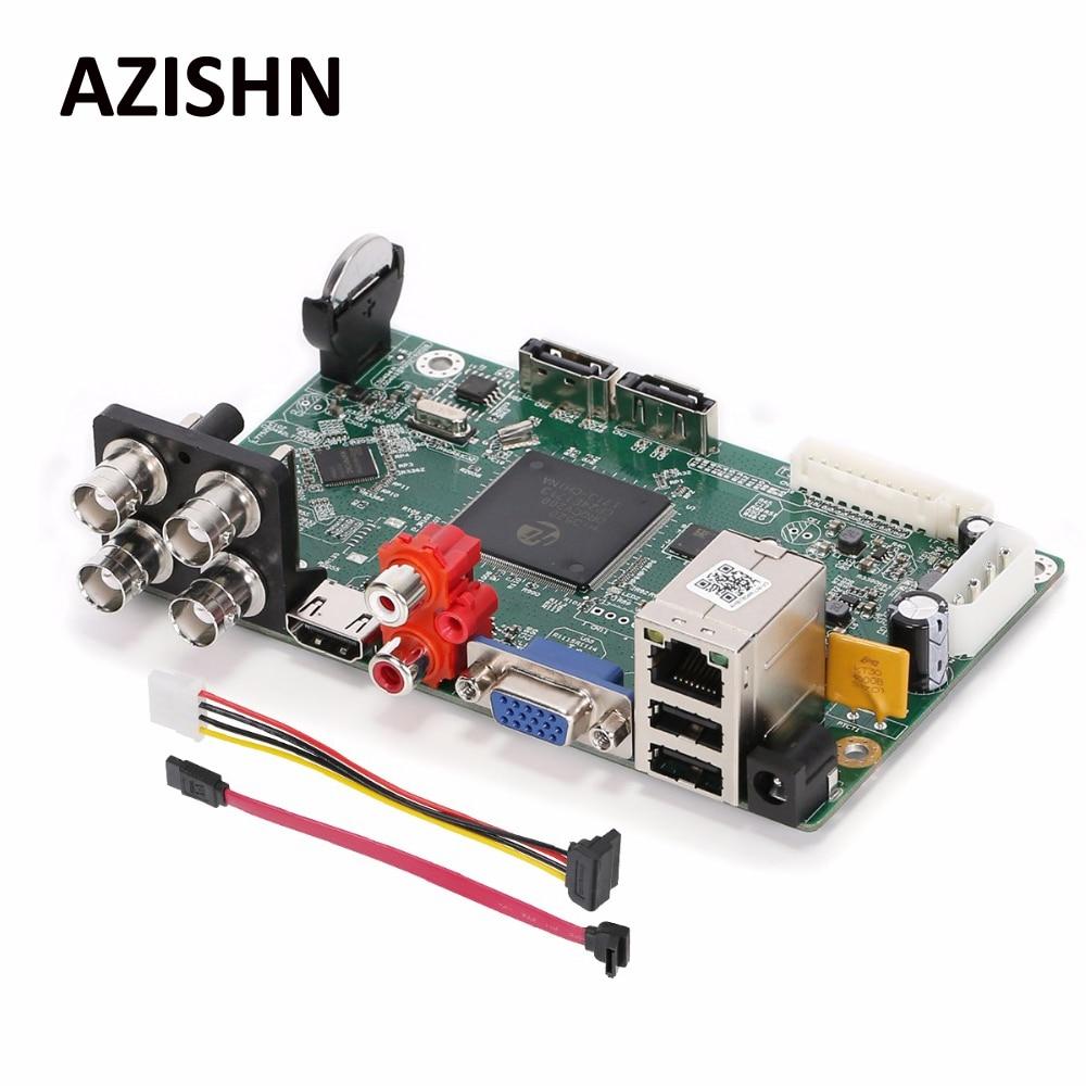 AZISHN AHD DVR CCTV основной Borad AHB7804R-LM-V3 4CH 2MP 1080N H.264 TVI CVI AHD аналоговый IP 5 в 1 Гибридный безопасности Видео Регистраторы