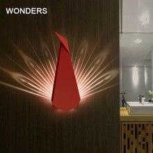 Nordic post Modern Iron Wall Lamps Living Room Aisle Stair Light bar shop decor Led Creative Peacock Fixtures