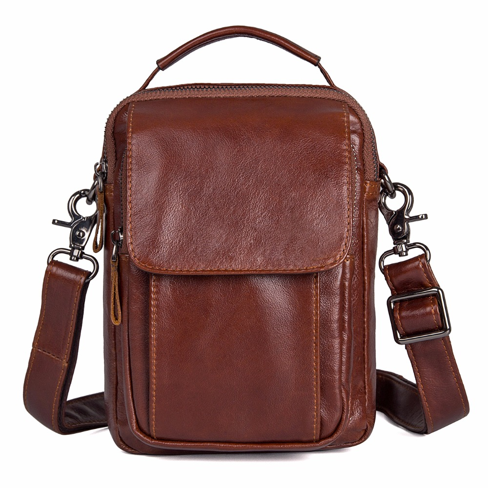Augus New Arrival Products Leather Travel Bags Messenger Bag Handbag 100% Genuine Leather Crossbody Bags For Men 1032B-1 new arrival messenger bags fashion rabbit fair for women casual handbag bag solid crossbody woman bags free shipping m9070
