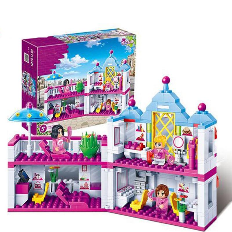 Banbao 382pcs The Beauty Salon Building Bricks Blocks Set Girls Toys Compatible Friends 6111 другие zoobles chatteroos snow bear 382 happitat 382 happitat