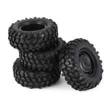 4pcs 96mm 1.9 Inch Rubber Wheel Rim and Tire Beadlock for 1/10 RC Crawler Car HSP Redcat Traxxas AXIAL SCX10 90046 RC4WD D90