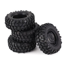 4pcs 96mm 1.9 Inch Rubber Wiel Velg en Band Beadlock voor 1/10 RC Crawler Auto HSP Redcat Traxxas AXIALE SCX10 90046 RC4WD D90(China)