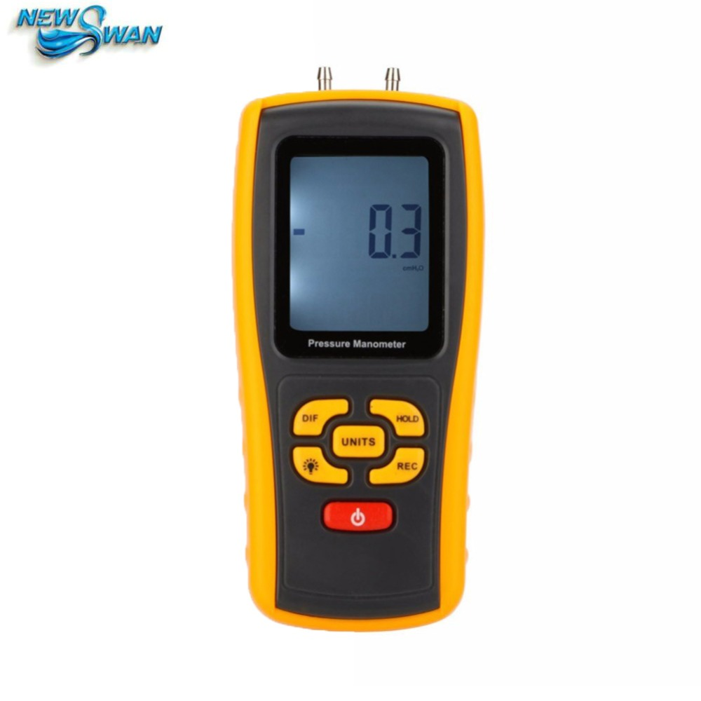 GM520 Temperature Compensation Digital Pressure Manometer Differential Pressure Manometer Measuring Range 35kPa lcd pressure gauge differential pressure meter digital manometer measuring range 0 100hpa manometro temperature compensation