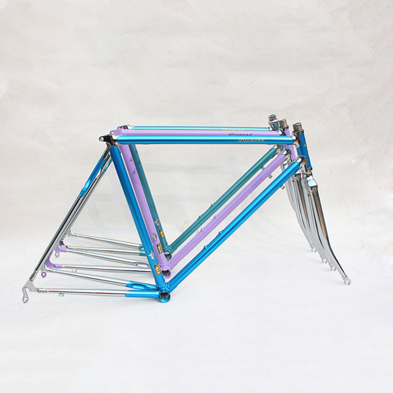 Reynolds 525 Chrome Molybdenum Steel Fixie  Frame DIY Road Bike Frame 700 C Frame 48 Cm 50 Cm 52 Cm 54 Cm 56cm 58cm