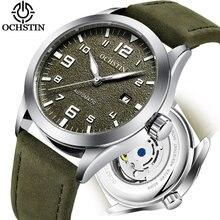 3b04d585bb35e Top marque OCHSTIN Tourbillon montre automatique hommes étanche Date Sport  hommes en cuir mécanique montre-bracelet mâle horloge.