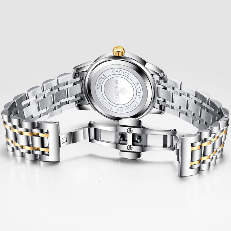 WISIODOIT luksusowa marka zegarka kobiet mody złote zegarki damskie - Zegarki damskie - Zdjęcie 5