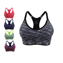 809ac57f59514 Daddy Chen Outdoor Woman Workout Bra Fitness Push Up Bar Breathable  Quick-Dry Stretch Cotton Seamless Running Sports Bra