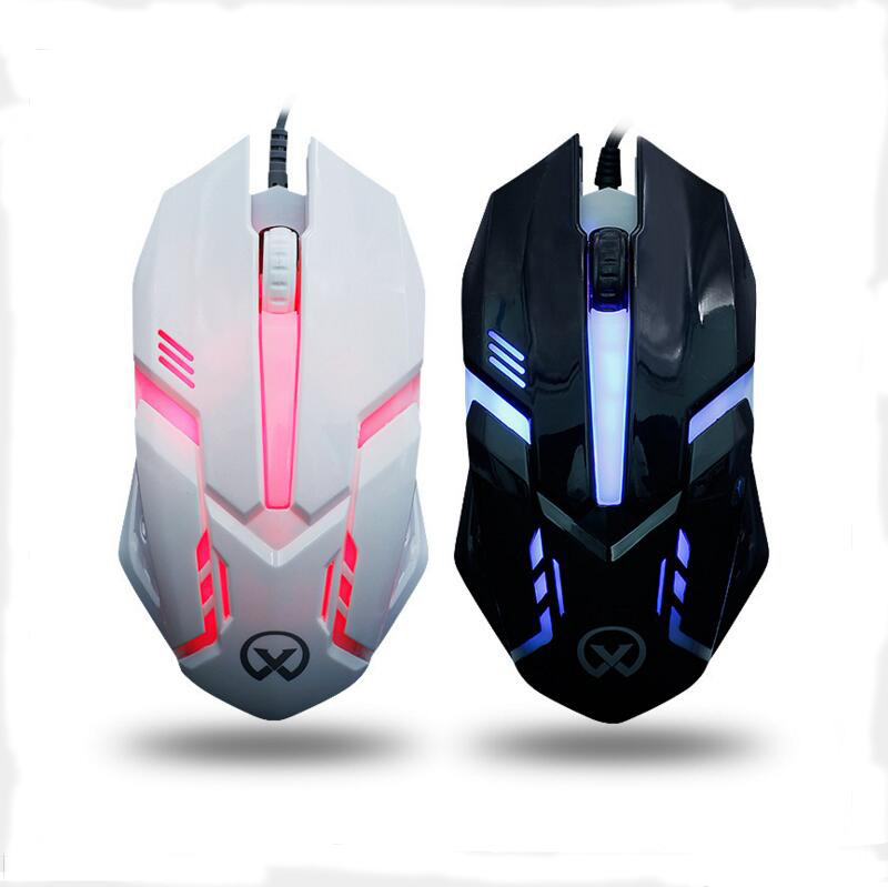 Backlit LED Gaming Mouse Wired USB Mouse 1000 DPI Adjustable 3 Buttons Optical Computer Mouse Game Mouse Gamer For Laptop PC sunsonny t m30 usb wired 6 button 600 1000 1600dpi adjustable led gaming mouse golden red
