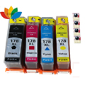 4 Compatible HP 178 XL Ink cartridge For HP Photosmart B109 B110 B210 C309 C310 C410 D5468 D5463 D5460 printer