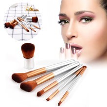 Pro 6Pcs Double-headed Makeup Brush Set Lip Brush Eye Liner Eyeshadow Foundation Brush Make Up Cosmetics Liquid Concealer Tools