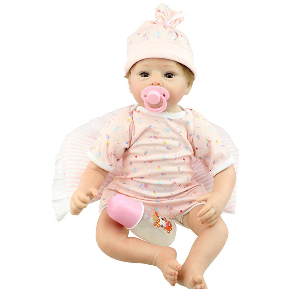 Cute Newborn Doll Silicone Reborn Dolls with Clothes,20 Lifelike Baby Reborn Doll Brinquedos Toys for Children's Birthday Gift silicone reborn baby doll toy lifelike reborn baby dolls children birthday christmas gift toys for girls brinquedos with swaddle
