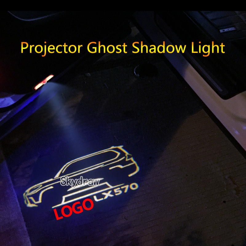 2 Piece For LEXUS LX 570 (2007-2019) Car LED Door Warning Light Projector Ghost Shadow Light Welcome Light