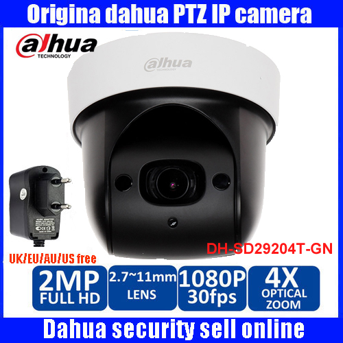 Original English Firmware Dahua DH-SD29204T-GN replace SD29204S-GN 2Mp Network Mini IR PTZ Dome IP Speed Dome 4x optical zoom dahua sd29204t gn w 2mp mini ir ptz wifi ip speed dome new version english firmware wdr day night 2 7mm 11mm focal length