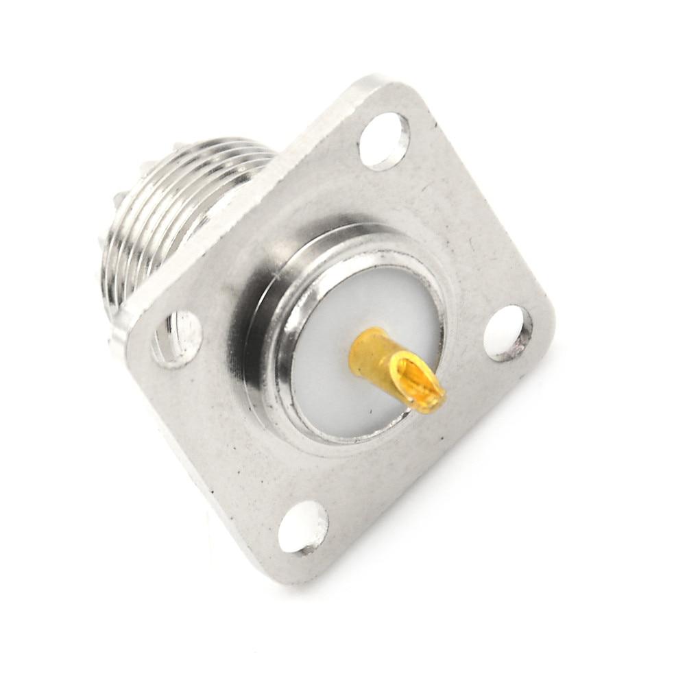 1Pc Conector Coaxial SO-239 Jack Fêmea Forma Quadrada Prático Copo de Solda Coaxial Conector Para Rádio