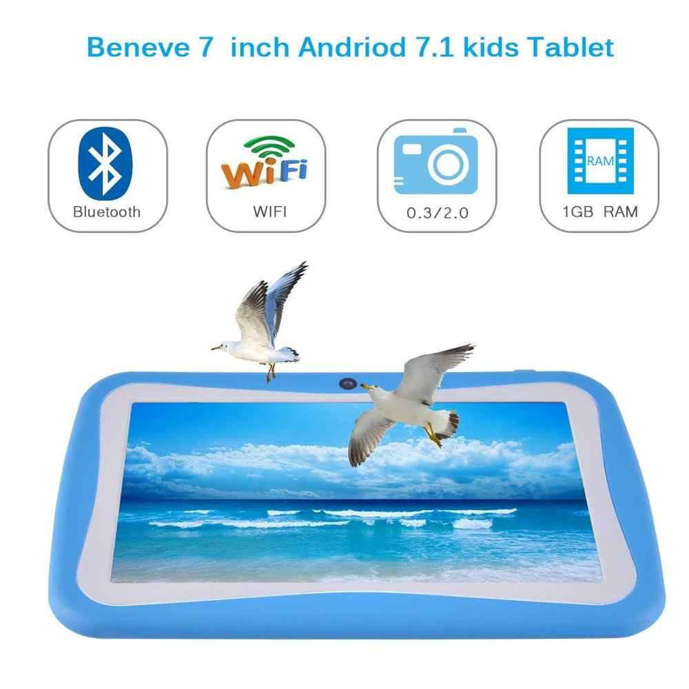 "Tablet PC 7.1 ""inç Full HD ekran Android 7.0, 1GB + 8 GB çift kamera 2MP Bluetooth WiFi"