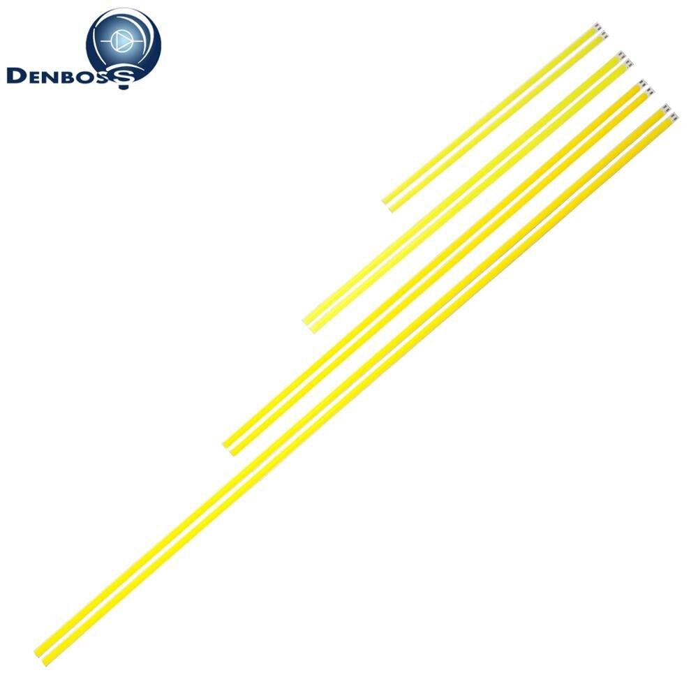 10PCS 12v LED COB Strip 200mm 300mm 400mm 500mm 600mm Flexible Strip Bar Lights Warm White For Auto Outdoor Light Cob Led Tubes