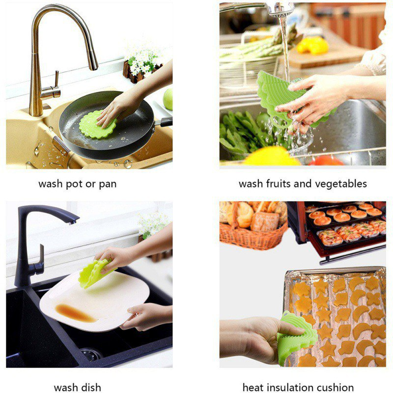 Multifunction Silicone Dish Bowl Cleaning Brush Scouring Pad Pot Pan Easy to clean Wash Brushes Cleaning Brushes Kitchen
