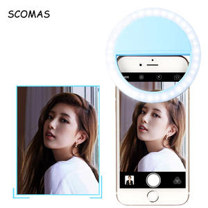 SCOMAS Selfie Ring Lights for Iphone Android USB Rechargeable 36 Leds Clip on Phone