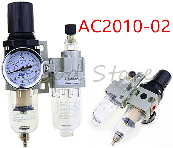 "SMC Type AC2010-02 1/4""PT manual drain type compressing air filter pneumatic gas source processor two joint oil-water separator"
