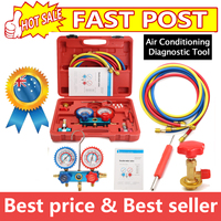 R134A HVAC A/C Refrigeration Kit AC Manifold Gauge Set Auto Service Kit Car Air Conditioning Repair Fluorine Filling Tool