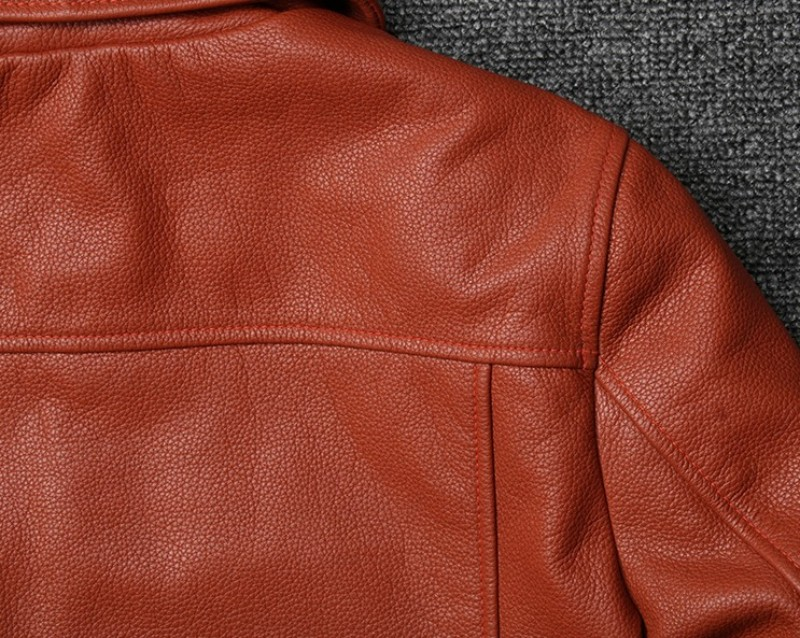 HTB1iMU9XorrK1RkSne1q6ArVVXaI 100% Genuine Leather Mens Aviator Jacket Italy Luxury Single Breasted Short Windproof Biker Leather Pilot Coat Plus Size 5XL