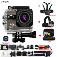 RICH Action Camera Novatek 96660 4K 24fps Wifi 2.0″Screen 170 Angles Extreme Go Pro Style Waterproof 30m Sports Camera