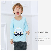 Soft Solid Kids Boys T Shirt Car Color Long Sleeve Baby Girls T-Shirts Cotton Children's T-Shirt O-Neck Tee Tops Boy Clothes