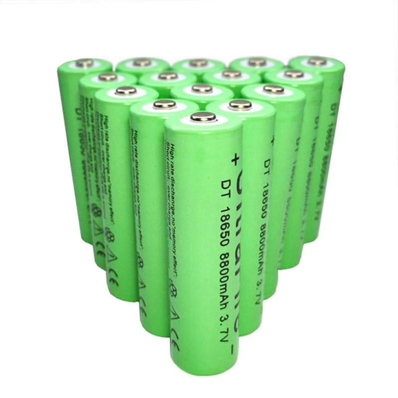 Высокое качество 1 шт./лот 8800 мАч 18650 аккумуляторная батарея 3,7 v литий-ионный аккумулятор-1-20 штук литий-ионный аккумулятор последовательным ...