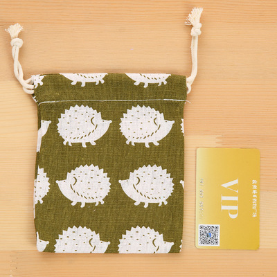 Tropical Fruits Deluxe Printing Small Purse Portable Receiving Bag