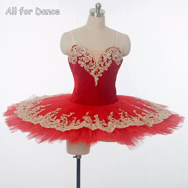 676dd2c2e Customer Size Made Red Ballet Dance Costume Pancake Tutu For Girl/Women  Performance/Competition