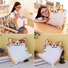 Cartoon Figure Corgi Plush Pillows Stuffed Animal Cushion Valentine's Day Gift Male/Female #K4UE# Drop Ship(China)