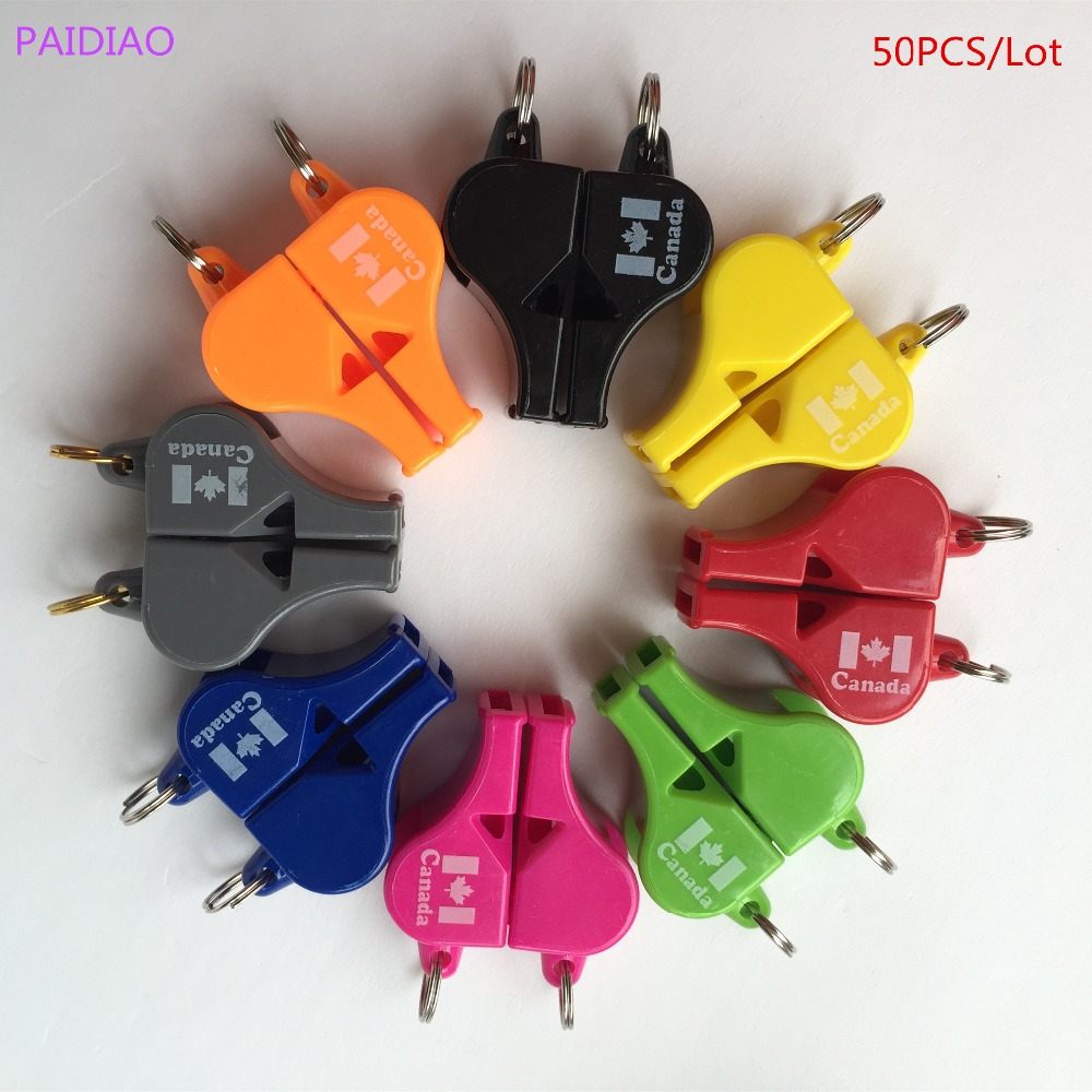 50pcs/Lot FOX40 Referee Classic Whistle Basketball Volleyball Football Tennis Dolphin Whistle PAIDIAO Apito With Canada Logo свисток select referee whistle metal 000 серебро large металлический