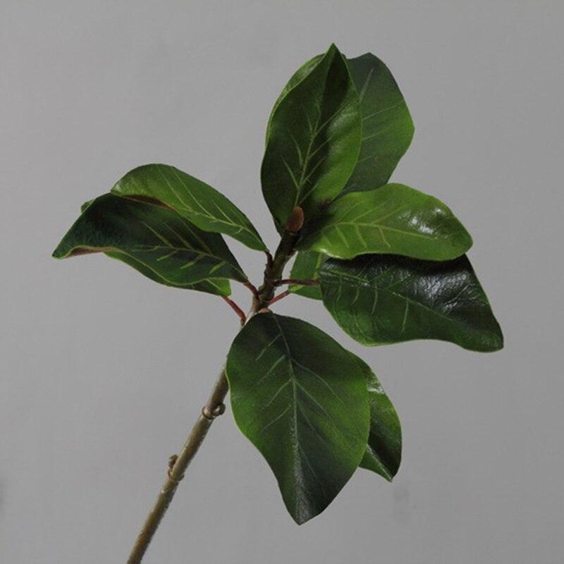 6 sztuk 61cm zaawansowana symulacja Yulan Kapok liść kompozycja kwiatowa roślin ściany materiał udogodnienia takie jak bezpłatny bezprzewodowy dostęp do domu zielony dekoracje sztuczne w Sztuczne i zasuszone kwiaty od Dom i ogród na  Grupa 2