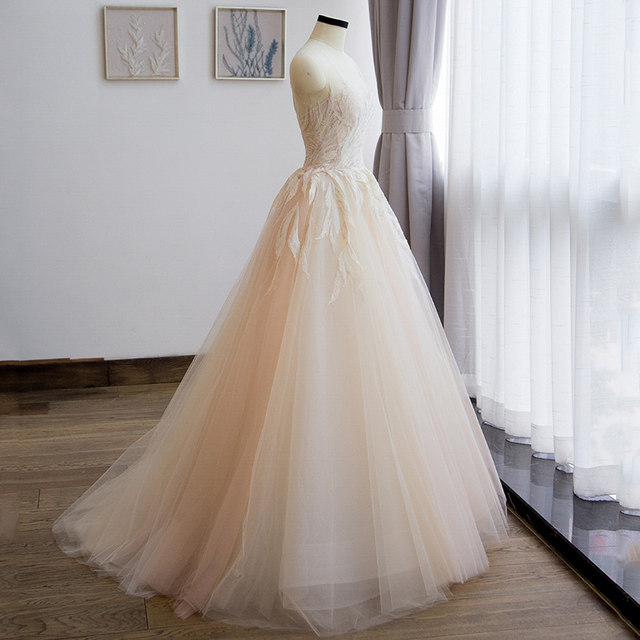 Online Shop vestido de noiva princess style boho lace bohemian ...