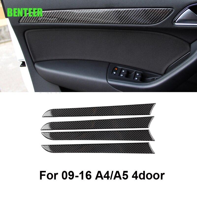 Real carbon fiber car interior decoration for audi A4 A5 4 door