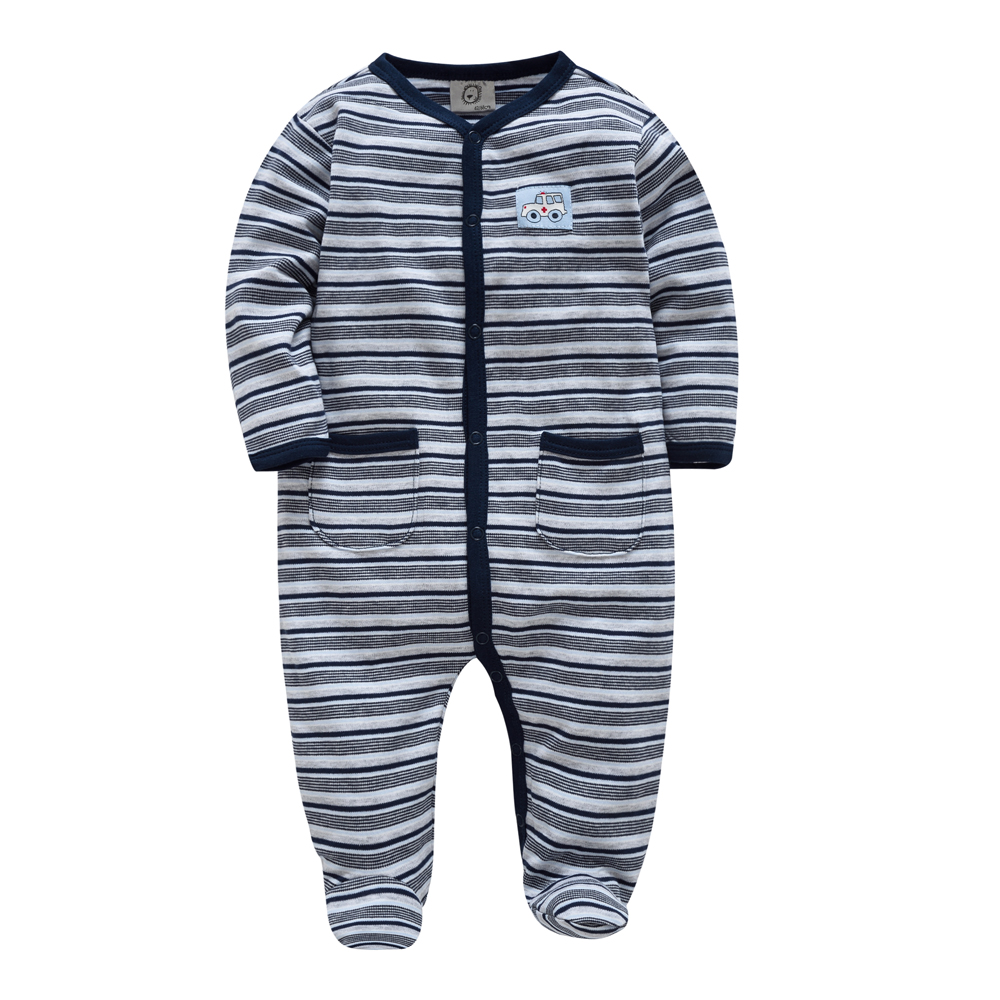 e249f3f9bac3d Baby Footies Striped Baby Boy Clothing Long Sleeve Winter Kids Clothes New  Born Recien Nacido Sleeping