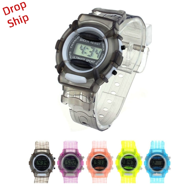 Fashion Boys Girls Children Students Waterproof Digital Wrist Sport Watch DROP S