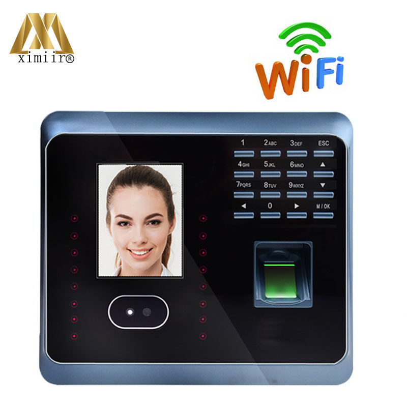 Free Shipping ZK UF100Plus Face Recognition Time Attendance System With Fingerprint Reader TCP/IP WIFI Time Attendance Face