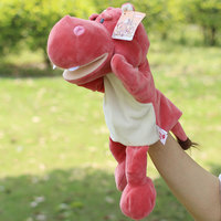 hippo hand puppet hand puppet toys 28 cm plush dolls pink puppet kids toys 4 size Appease doll for kids tell story puupets