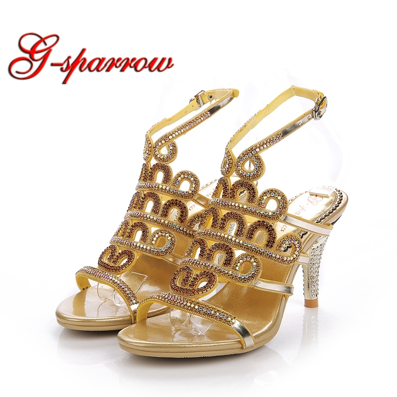 Wholesale Price Factory Seller Female Sandals Fashion Cut-out Crystal Wedding High Heel Bridal Shoes Summer Sandal Gold PurpleWholesale Price Factory Seller Female Sandals Fashion Cut-out Crystal Wedding High Heel Bridal Shoes Summer Sandal Gold Purple