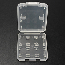 8 IN 1 Hard Plastic Memory Card Storage Case TF Card Micro SD Store Box Protector Holder Case for SD SDHC TF MS Stick