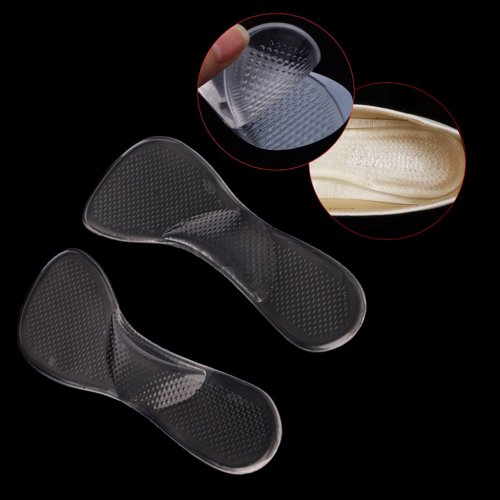 THINKTHENDO Silicone Women Girl Insoles with Arch Support and Cushion Orthotic Orthopedic High Heel Shoes Inserts Sandals Pad