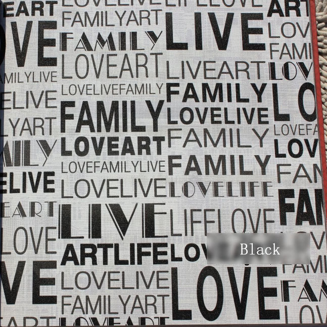 Estilo moderno de moda letras negras en blanco vinilo - Papel pintado letras para paredes ...