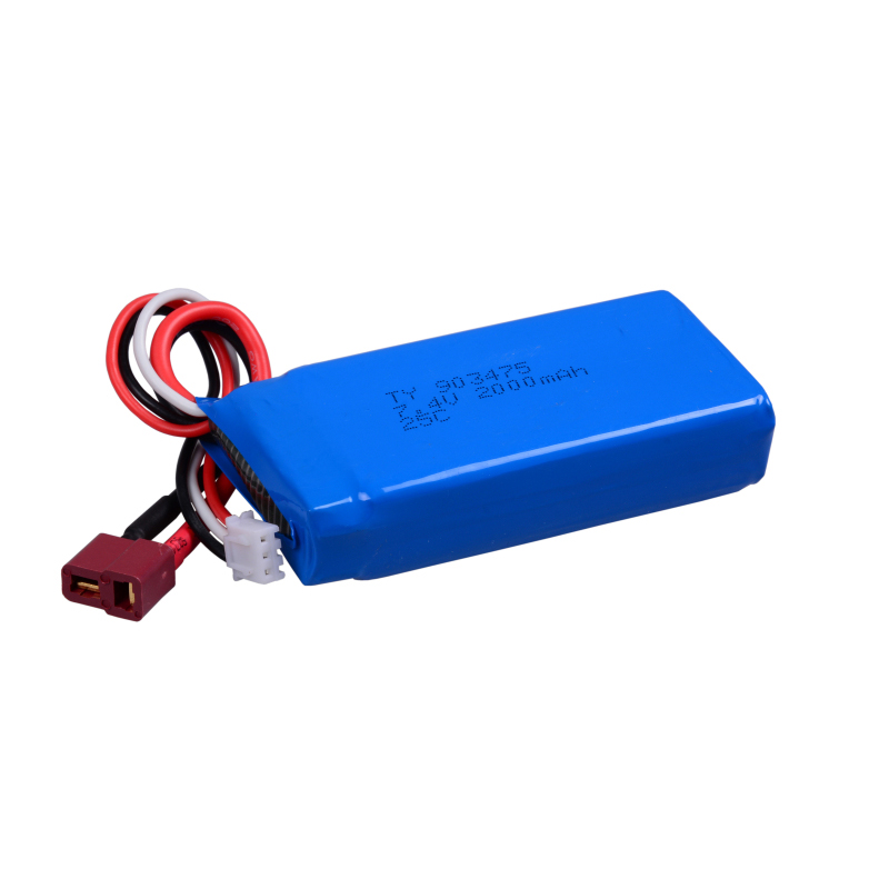 Upgrade WLtoys Suku Cadang 12428 baterai 7.4V2000mAh T Plug untuk  L969 L202 L212 L222 WL RC baterai mobil Aksesori a9590135b4